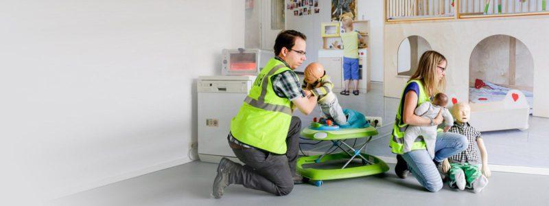 Evacuatie baby's en kinderen